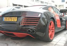 407bf27177f289 Spotted  Special Colored Audi R8 in Tel Aviv