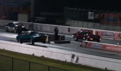 Video 1968 Camaro SS vs 1969 Corvette Drag Race