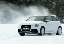 Video Audi A1 Quattro Snow Drifting