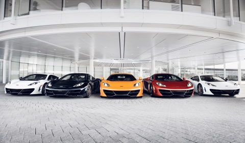 All Five McLaren MP4-12C High Sport Editions in One Photo Shoot