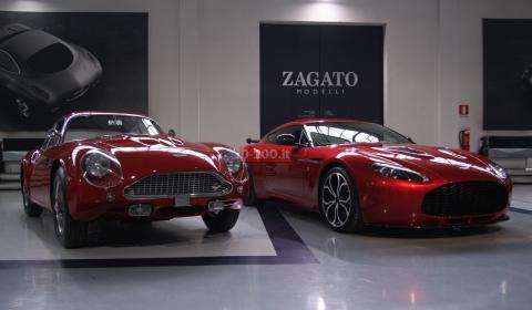 Aston Martin V Zagato Visits Zagato Headquarters In Milan GTspirit - Aston martin v12 zagato