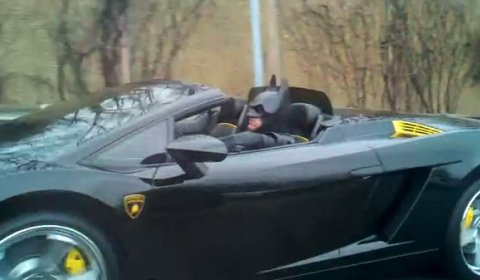 Video Batman Driving His Lamborghini in Maryland