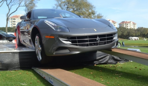 Funny Ferrari FF Accident at Amelia Island Concours D'Elegance