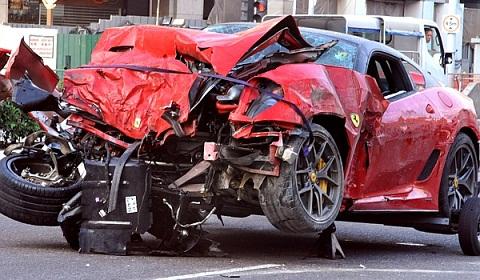 Ferrari 599 GTO Wreck