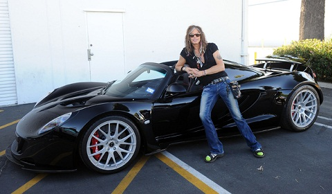 Steven Tyler Takes Delivery of the First Hennessey Venom GT Spyder ...