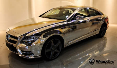 Chrome Mercedes Benz Cls By Wrapstyle Gtspirit