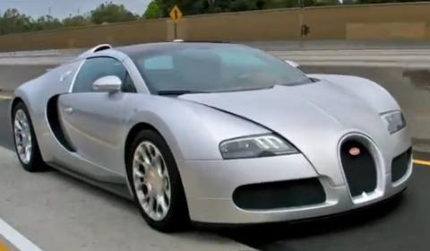 Video Bugatti Veyron Grand Sport on GoldRush Rally 2012