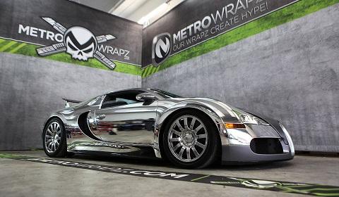 Flo Rida's Chrome Wrapped Bugatti Veyron