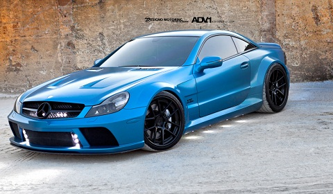 Mercedes benz sl65 amg black series on adv 1 wheels for Mercedes benz sl65 amg black series for sale