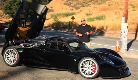 Video Matt Farah Drives Hennessey Venom GT Spyder