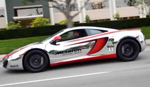 Chrome McLaren MP4-12C by McLaren Newport Beach