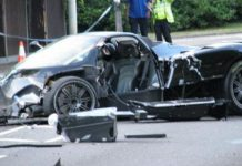 Fatal Pagani Zonda Roadster Accident in Watford