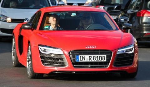 Ferdinand Piech And Wife Driving New 2013 Audi R8 V10 Plus Gtspirit