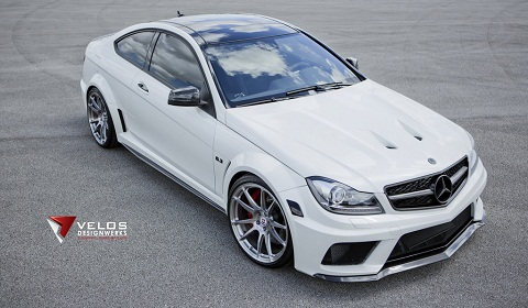 mercedes benz c63 amg black series on hre wheels - Mercedes Benz C63 Amg Black Series White