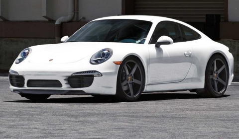2012 Porsche 991 Carrera S on 20 Inch CV3 Vossen Wheels