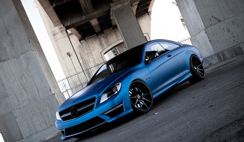Matte Blue Mercedes-Benz CL63 AMG on ADV1 Wheels