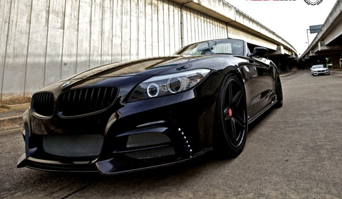 Blacked Out BMW Z4 by Redline Auto Thailand