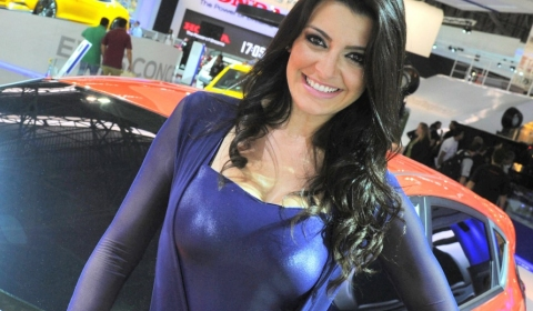 Girls at Sao Paulo Motor Show 2012