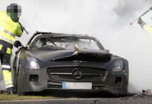 Mercedes-Benz SLS AMG Black Series Mule Crashes at the Nurburgring