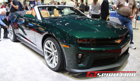 home car news sema 2012 chevrolet camaro zl1 touring convertible. Cars Review. Best American Auto & Cars Review