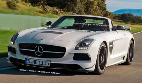 Perfect Mercedes Benz SLS AMG Roadster Black Series