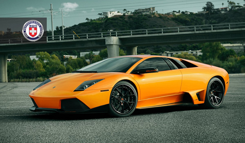 Orange Lamborghini Murcielago Lp640 On Hre S101 Wheels Gtspirit