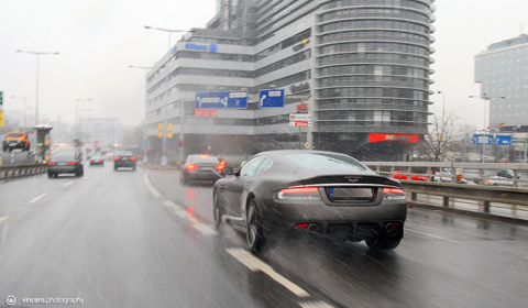 Photo of the Day Aston Martin DBS in the Rain