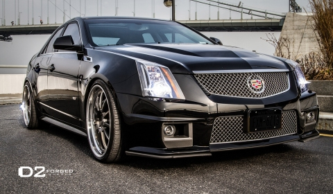 Cadillac CTS-V on D2Forged FMS-11 Wheels - GTspirit