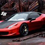 Chrome Red Ferrari 458 italia by SR Auto Group