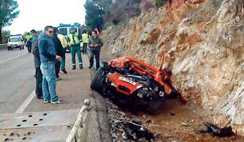 Ferrari 458 Spider Wrecked in Mallorca