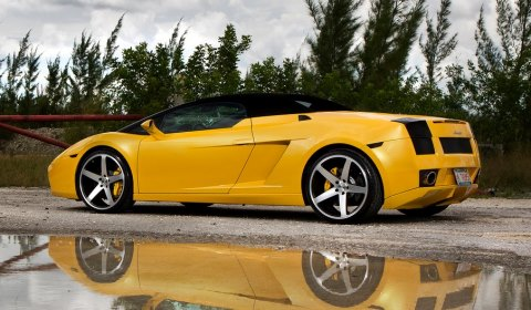 lamborghini gallardo spyder on cw 5 concavo wheels gtspirit. Black Bedroom Furniture Sets. Home Design Ideas
