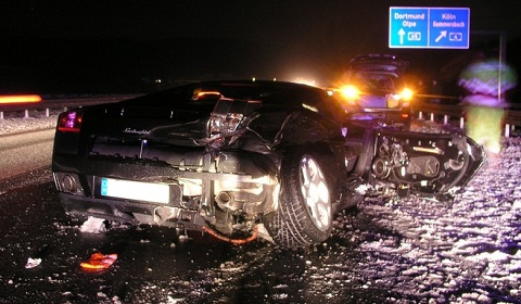 Lamborghini Gallardo Wrecked in Germany