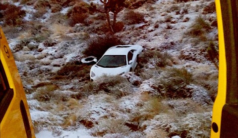 Rapper Tyga Crashes Lamborghini Aventador