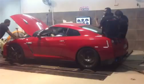 Video: Nissan GT-R by Lutfalla Dyno run