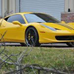 Yellow Ferrari 458 Italia on Modulare C30-DC Wheels