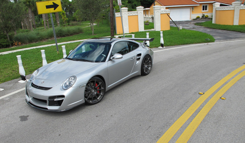 2010 Porsche 911 Turbo on ADV10.1 wheels