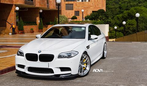 BMW F10 M5 on ADV7 Track Spec wheels