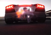 Lamborghini Aventador with Power Craft exhaust
