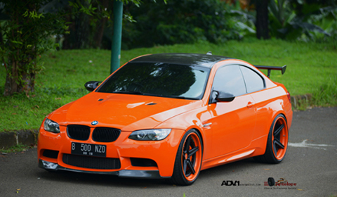 'Halloween Edition' Orange BMW M3 by Antelope Ban on ADV.1 Wheels