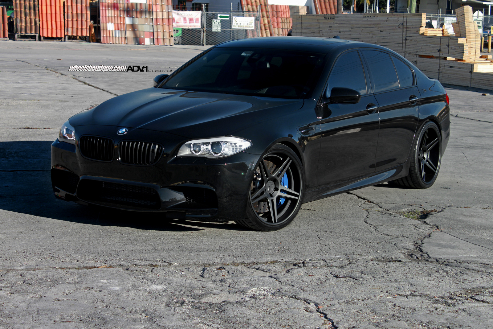 Black Bmw F10m M5 On 21 Inch Adv 1 Wheels Gtspirit