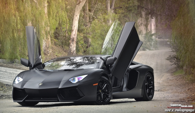 For Sale Matte Black Lamborghini Aventador Lp700 4 Gtspirit