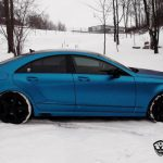 Electric Blue Brabus Mercedes-Benz CLS by Wrap Style