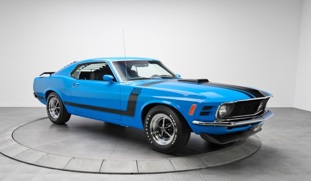 for sale 1970 ford mustang 302 boss in grabber blue gtspirit. Black Bedroom Furniture Sets. Home Design Ideas