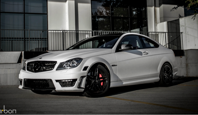 mode carbon mercedes benz c63 amg coupe in matte white - Mercedes Benz C63 Amg Black Series White