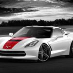 Render 2014 Chevrolet Corvette Stingray on Vossen CV5 Wheels