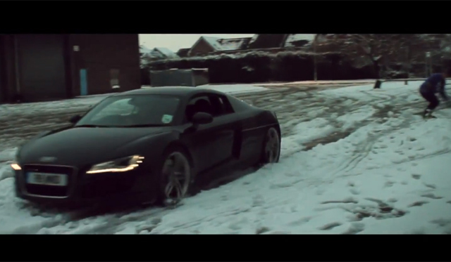 Video: Snowboarding Behind an Audi R8