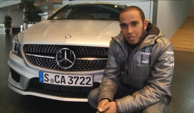 Video: Lewis Hamilton Drives the new Mercedes-Benz CLA250