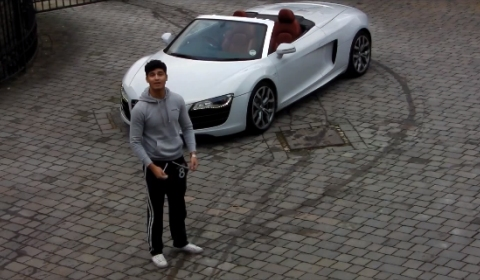 Video Young Drift Boy Talks About His New Audi R8 V10 Spyder and Thanks GTspirit