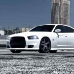 white dodge charger with vossen wheels by need4speed motorsports - Dodge Charger 2013 White Black Rims