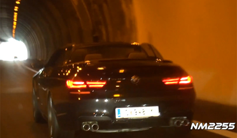 Video: 2013 BMW F12 M6 Convertible in Italian Tunnel